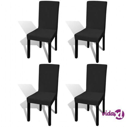 130342 elastyczne pokrowce na krzesło czarne 4 szt. marki Vidaxl