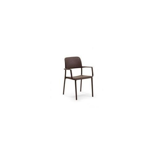 Nardi s.r.l. Krzesło z podłokietnikami bora - coffee