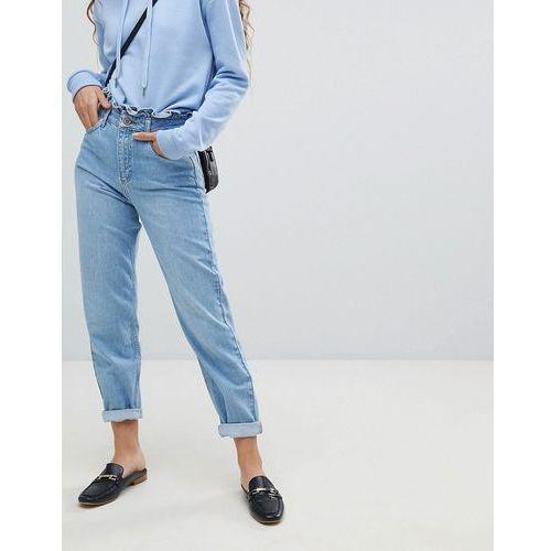 Miss Selfridge Frill Top Mom Jeans - Blue, kolor niebieski