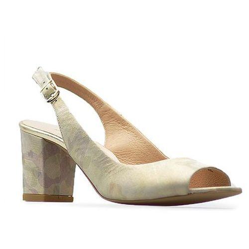 Sandały 1385/o/600 beżowe moro, Laura messi