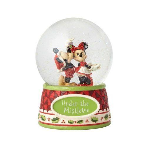 Jim shore Pocałunki pod jemiołą kula śnieżna mickey mouse & minnie mouse waterball 4060275
