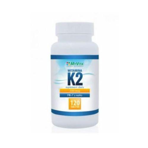 Witamina K2 MK-7 K2 MK7 100mcg z natto K2MK7 120 tabletek MyVita - produkt z kategorii- Pozostałe delikatesy