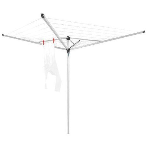 - suszarka ogrodowa topspinner 40m, 4 ramiona - mocowanie stalowe (do gruntu) - szary marki Brabantia