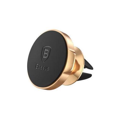 Baseus uchwyt samochodowy magnetyczny do kratki złoty - złoty (6953156253056)
