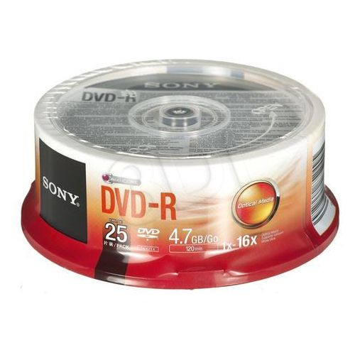 Sony Płyty dvd-r 4,7gb 16x - cake - 25szt.