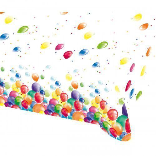 Obrus urodzinowy Baloniki - 120 x 180 cm - 1 szt., OBFOL/5740-A