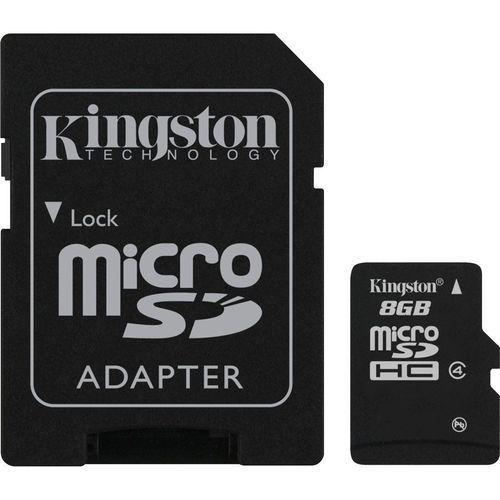Kingston Karta pamięci microsdhc class 4 8gb + adapter sd