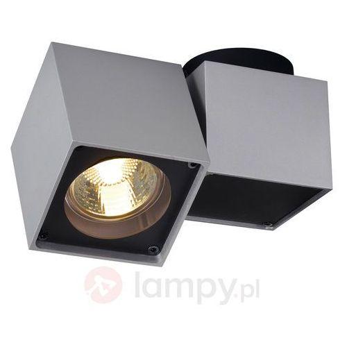 Lampa punktowa 151524 gu10, (dxsxw) 15 x 7 x 10 cm, srebrno-szary, czarny marki Slv