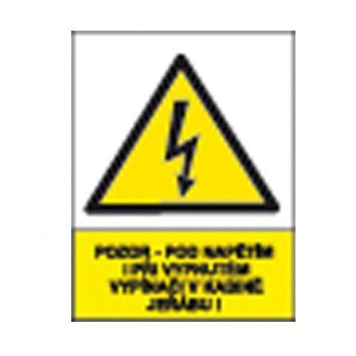 Uwaga - pod napięciem nawet przy wyłączonym włączniku w kabinie dźwigu!