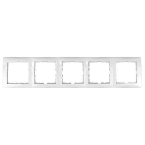 Ramka pięciokrotna biała 5310158989 B.Kwadrat Berker
