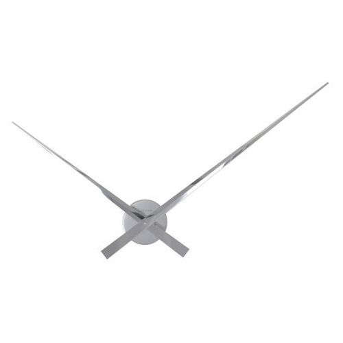 Zegar ścienny Hands 70 cm srebrny