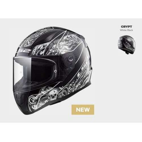 Ls2 Kask motocyklowy kask ff353 rapid crypt black white, model 2018!