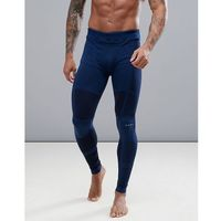 ASOS 4505 running tights with seamless knit - Navy, 1 rozmiar