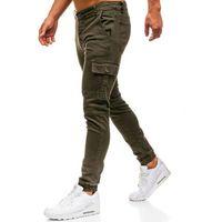 Spodnie jeansowe joggery męskie zielone denley 2039, Otantik