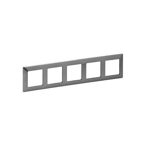 Legrand 754155 - Ramka dla przełączników VALENA LIFE 5P stal nierdzewna
