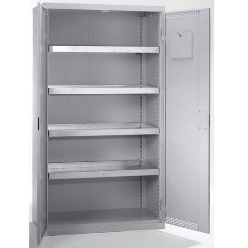 Stumpf-metall Szafa ekologiczna, drzwi perforowane, wys. x szer. x głęb. 1800x1000x500 mm, 4 p
