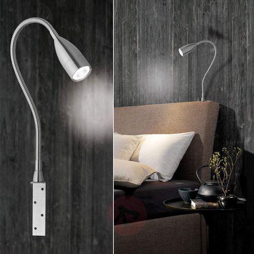 Honsel sten lampy nocne led nikiel matowy, 1-punktowy - nowoczesny - obszar wewnętrzny - sten - czas dostawy: od 3-6 dni roboczych (4001133307024)