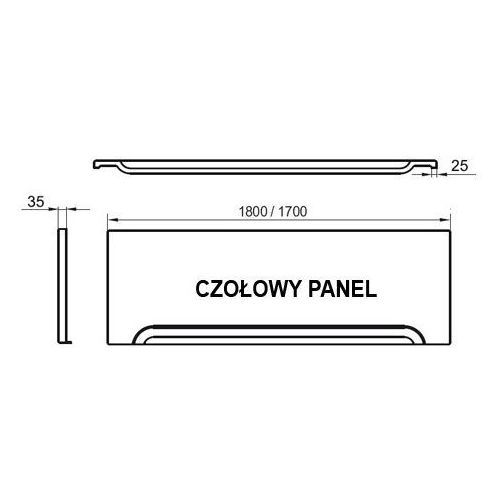 przedni panel a 170 do wanien cz001v0a00 marki Ravak