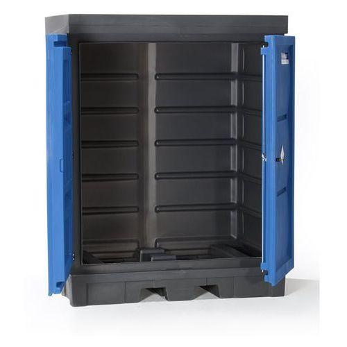 Pojemnik na substancje niebezpieczne z pe, z drzwiami, poj. wychwytowa 250 l, do marki Eurokraft