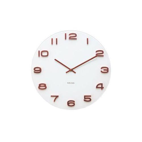 Zegar ścienny vintage round white copper numbers by marki Karlsson