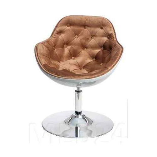 D2.design Fotel pezzo velvet k- biały, s-brąz 1424