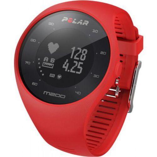 m200 - zegarek sportowy z gps i pomiarem tętna (czerwony) marki Polar