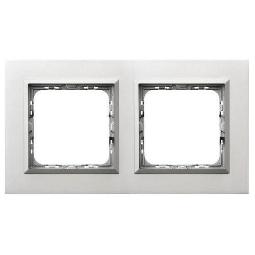 OSPEL SONATA R-2RAC/35/38 Ramka podwójna ALUMINIUM Aluminium, grubość 4mm (5907577450908)