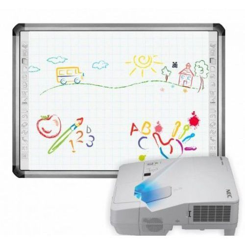 Tablica newline truboard r5-800l z projektorem ultrakrótkoognikowym epson eb-670 i uchwytem epson marki Interwrite