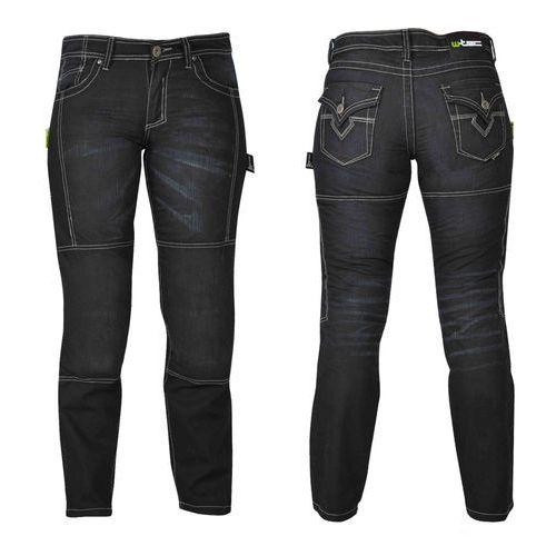 Damskie jeansowe spodnie motocyklowe W-TEC Theo, Czarny, 20/XXL, jeans