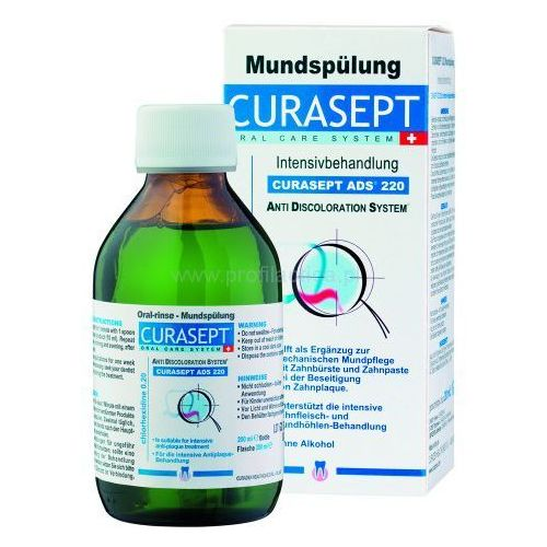 CURASEPT ADS 220 Płyn do płukania jamy ustnej 0.20 % CHX 200 ml, P1153