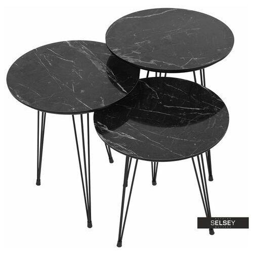 Selsey zestaw stolików kawowych xenolitha (5903025411439)