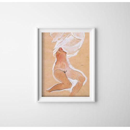 Vintageposteria.pl Plakat w stylu vintage plakat w stylu vintage siedząca naga dziewczyna egon schile