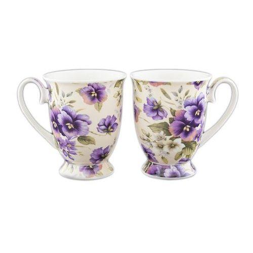 2 kubki porcelanowe bratki na prezent marki Carmani
