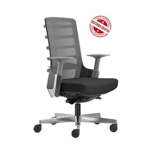 Fotel biurowy Unique SPINELLY 998B - Czarny + 21 kolorów siedziska + GRATIS D-Dock!
