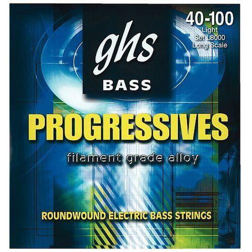 progressives struny do gitary basowej, 4-str. light,.040-.100 marki Ghs