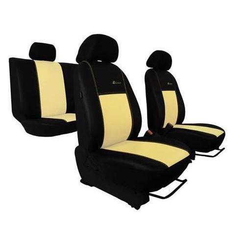 Pokrowce samochodowe EXCLUSIVE - POK-TER Skórzane Beżowe Nissan Note I 2005-2013 - Beżowy