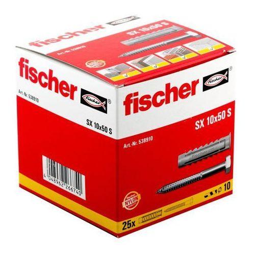 Kołki rozporowe Fischer SX z wkrętami z kołnierzem 10 x 50 mm 25 szt.
