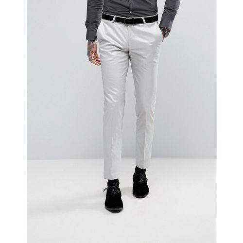 super skinny suit trousers in metallic - silver wyprodukowany przez Noose & monkey