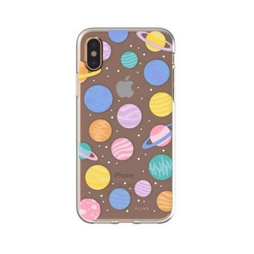 Etui iplate happy planets do apple iphone x wielokolorowy (30012) marki Flavr