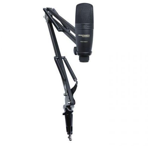 Marantz pod pack 1 mikrofon pojemnościowy usb z profesjonalnym uchwytem mikrofonowym