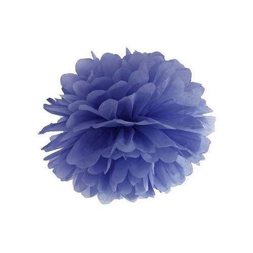 Dekoracja wisząca pompon kwiat - granatowa - 35 cm - 1 szt.