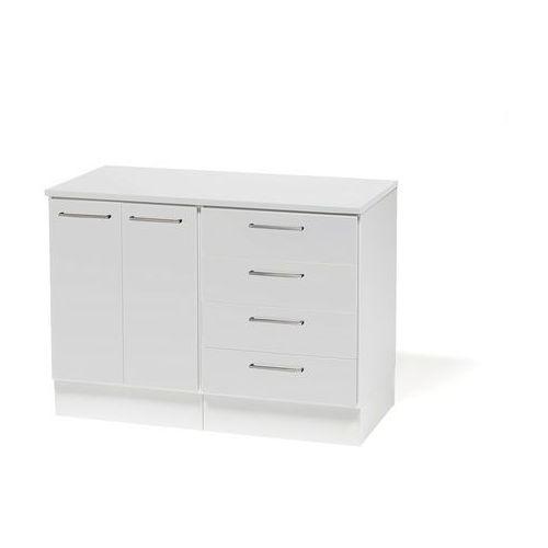 Szafka biurko - szafka + szafka z 4 szufladami Korpus: BIały Drzwiczki: Bi, 111101