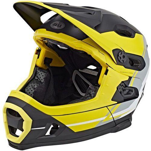 Bell super dh mips kask rowerowy żółty/czarny l   58-62cm 2018 kaski fullface i downhill (0768686099823)