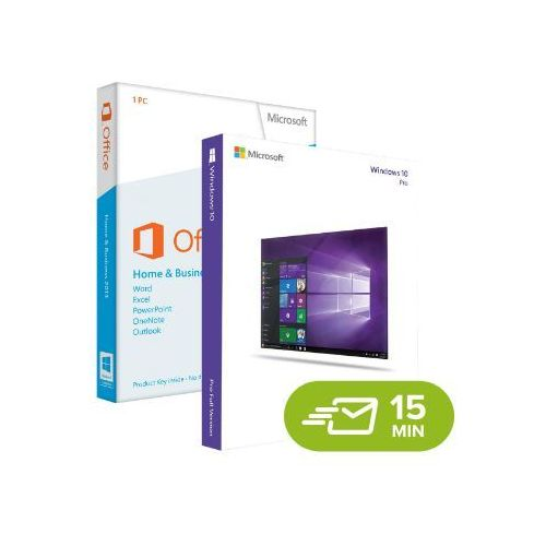 Microsoft Windows 10 pro + office 2013 home and business, licencje elektroniczne 32/64 bit