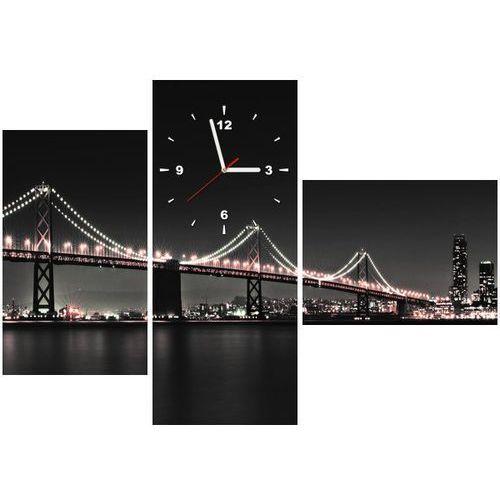 B2b Zegar w obrazie - czerwony most w san francisco - tanel teemusk