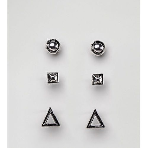DesignB Stud Earrings In Black Exclusive To ASOS - Black, kolor czarny