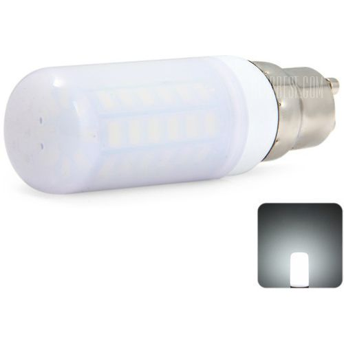 Gearbest Sencart 2200lm gu10 11w smd 5730 56 leds daylight corn bulb with milky shade