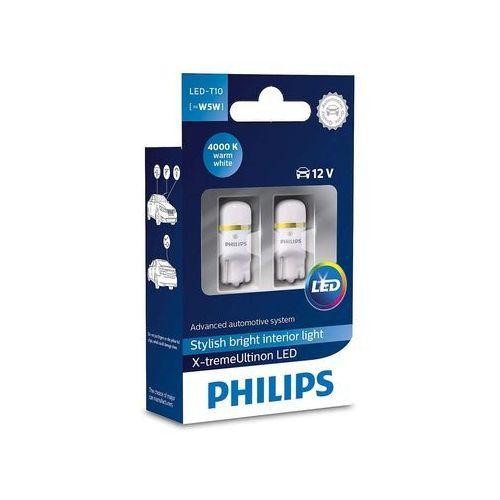 Żarówka LED do oświetlenia wnętrza pojazdu Philips X-tremeVision 127994000KX2, T10, W2,1x9,5d, W5W X-tremeVision LED T10 4000 K