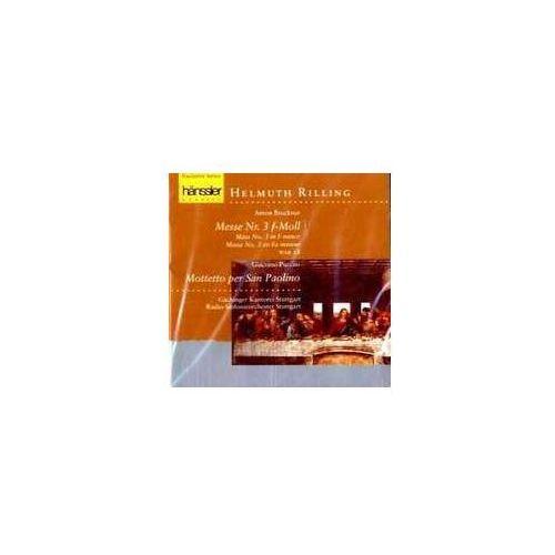 Haenssler Bruckner a / puccini g - messe nr. 3 f - moll / mottetto per s. p