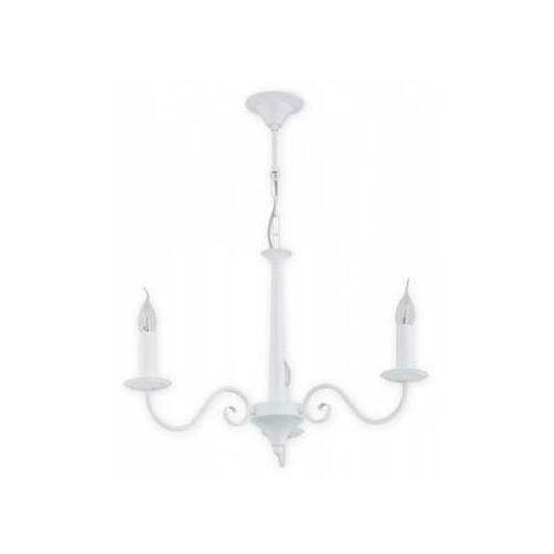Lemir asti o2893 w3 bia lampa wisząca zwis 3x60w e14 biały matowy